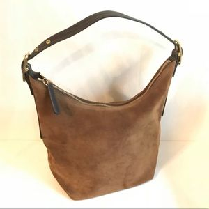 Coach Suede/Leather Hobo Bag